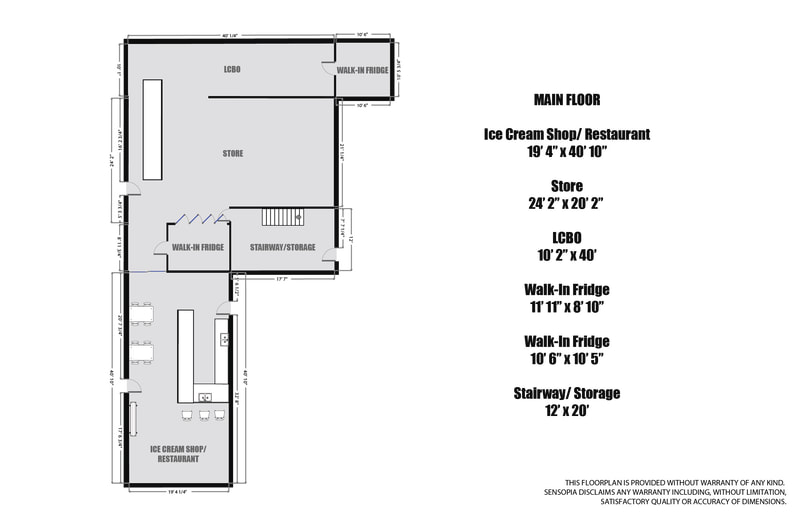 1725 Earl Haid Avenue Store and Cafe Floorplan